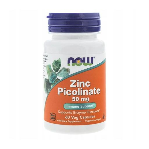 NOW Zinc Picolinate Пиколинат Цинка, 50 мг, капсулы, 60 шт.